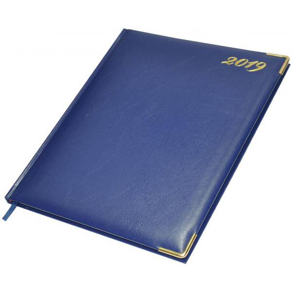 FIS 2019 Golden Executive Diary (English/French) 32EG FSDI32EG19BL - Blue (pc)