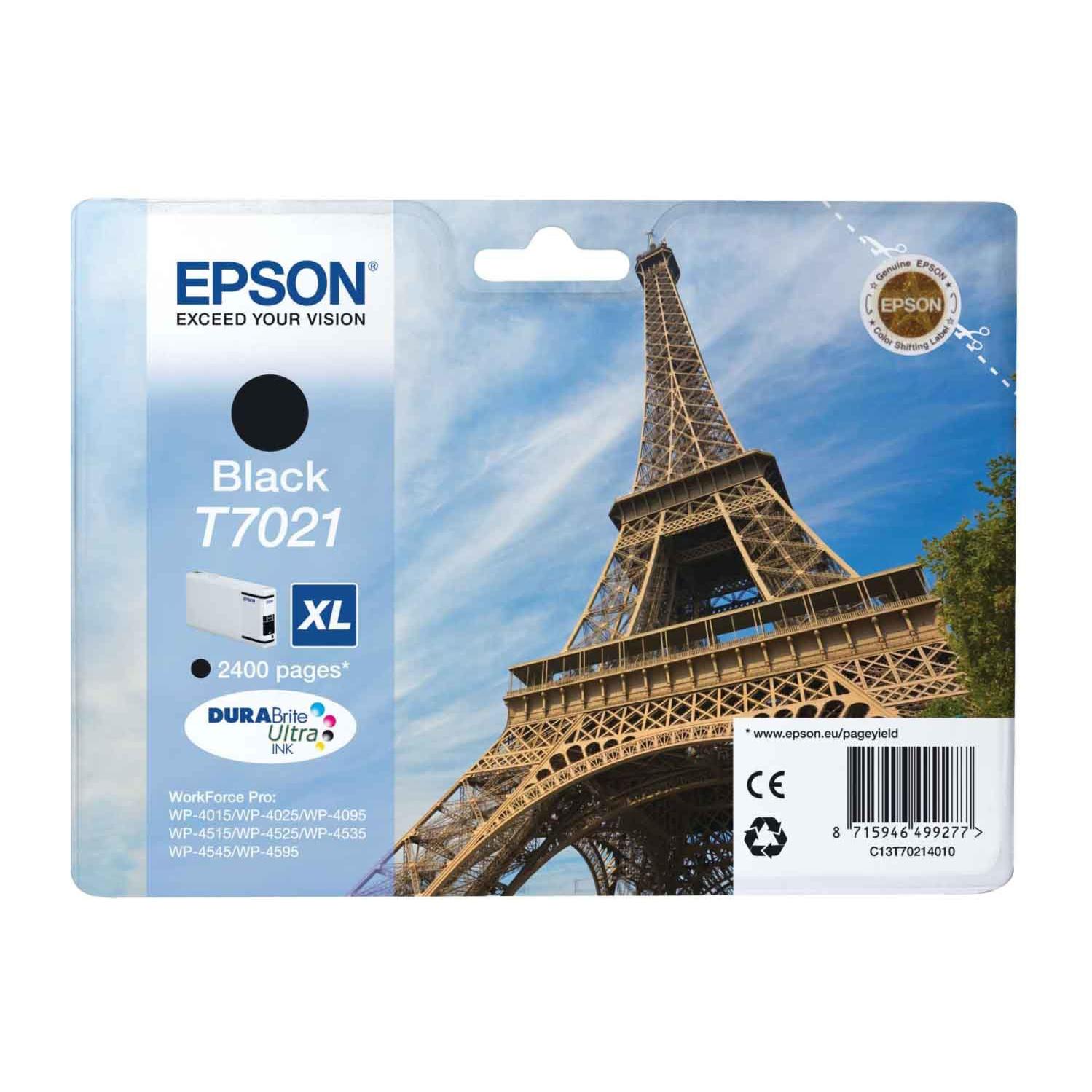 Epson T7021 XL Ink Cartridge - Black