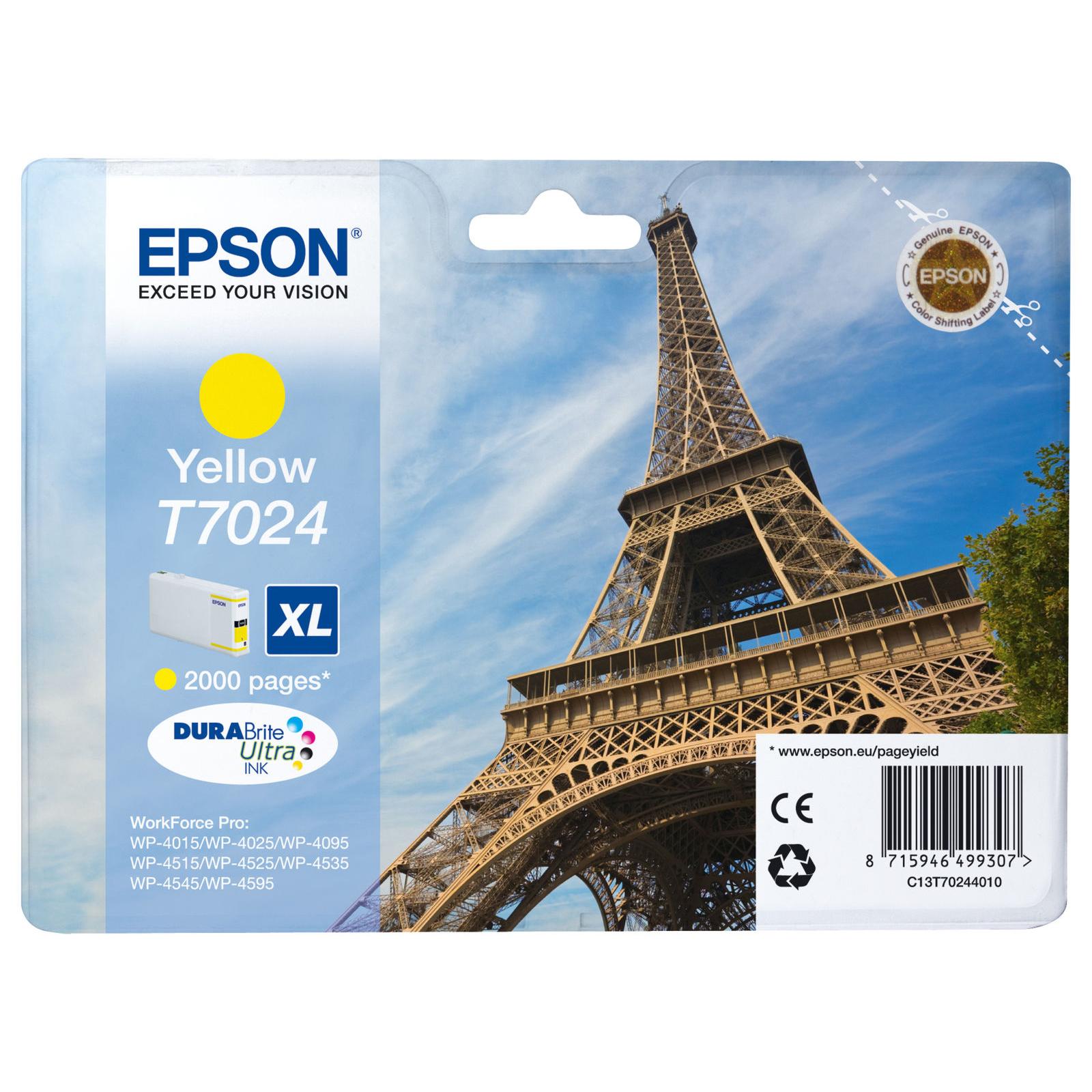 Epson T7024 XL Ink Cartridge - Yellow
