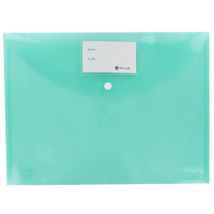 Atlas AS-F10033 Document Bag with Button FS - Green (pkt/12pcs)