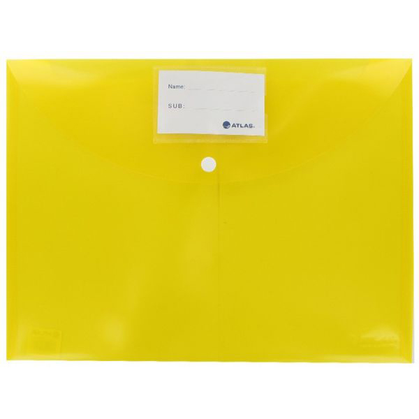 Atlas AS-F10034 Document Bag with Button FS - Yellow (pkt/12pcs)