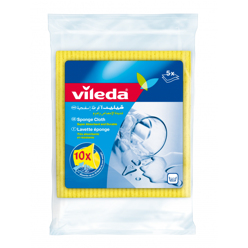 Vileda Sponge Cleaning Cloth VLDW72820 (pkt/5pcs)