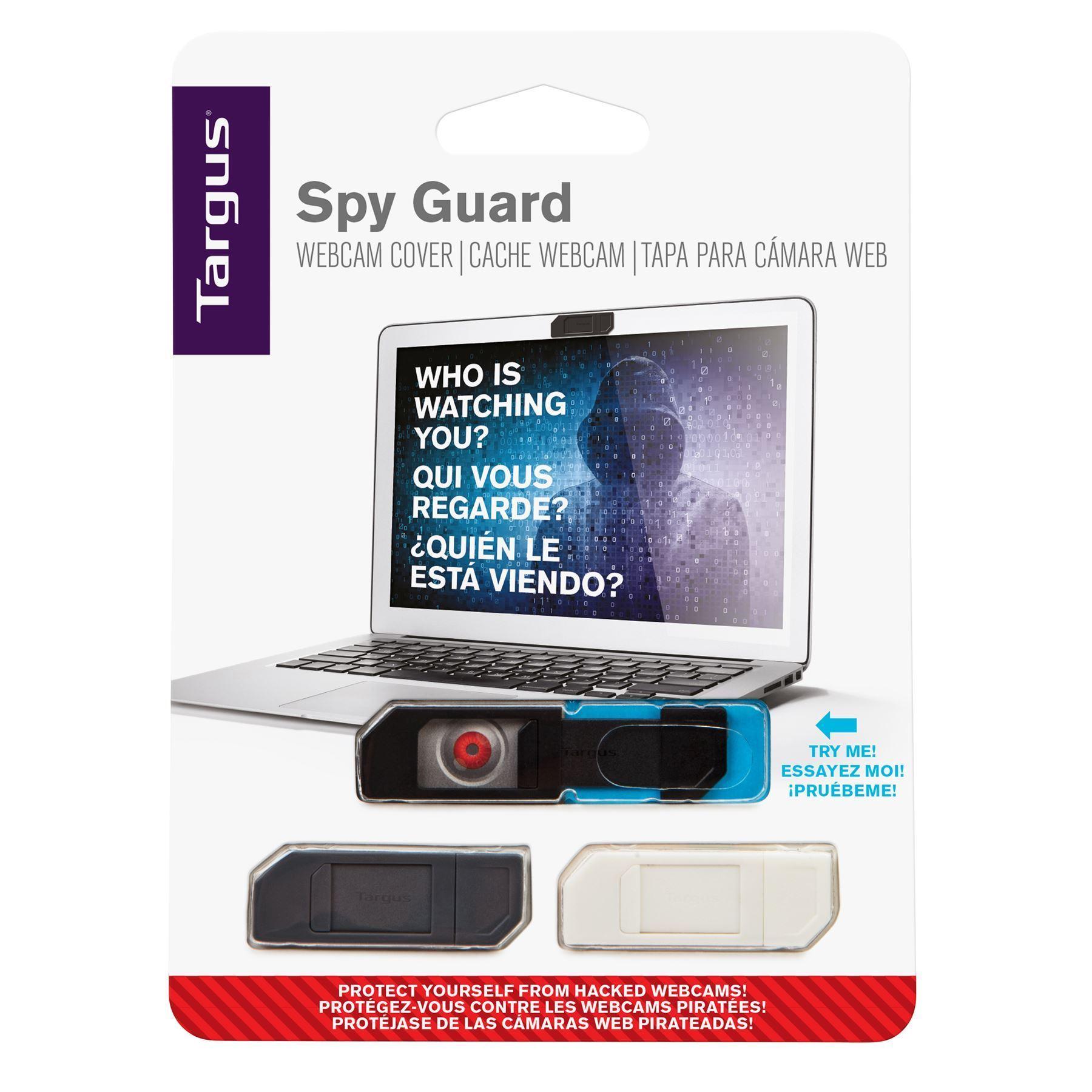 Targus AWH012GL Spy Guard Webcam Cover - Black / Grey / White (pkt/3pcs)