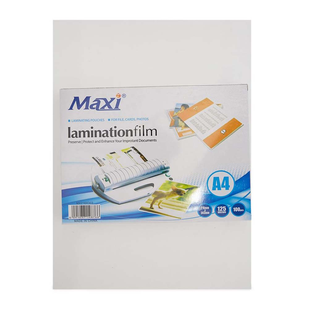 Maxi Laminating Pouch 125 microns - A4 (pkt/100pcs)
