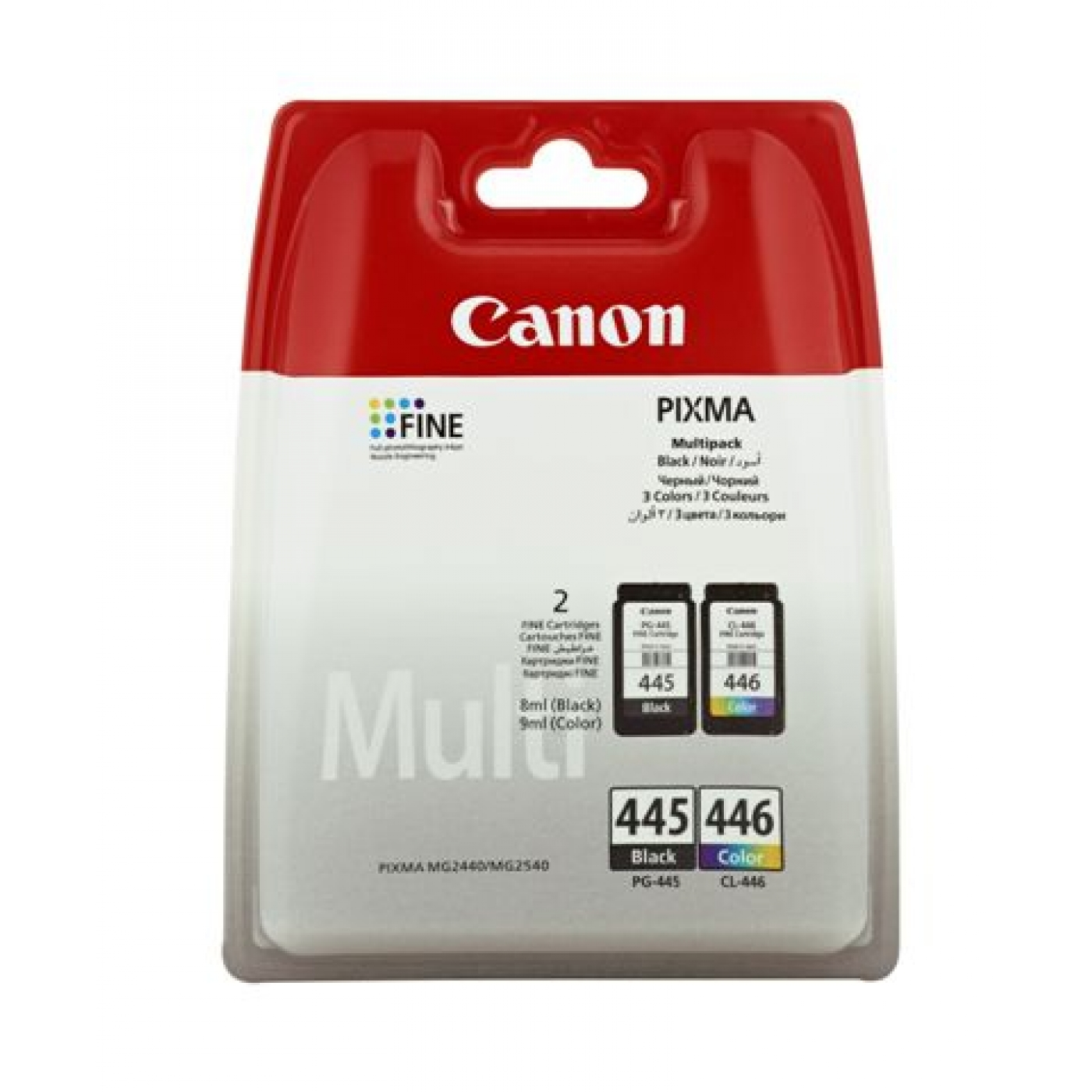 Canon PG-445/CL-446 Multipack Ink Cartridge - Black & Color