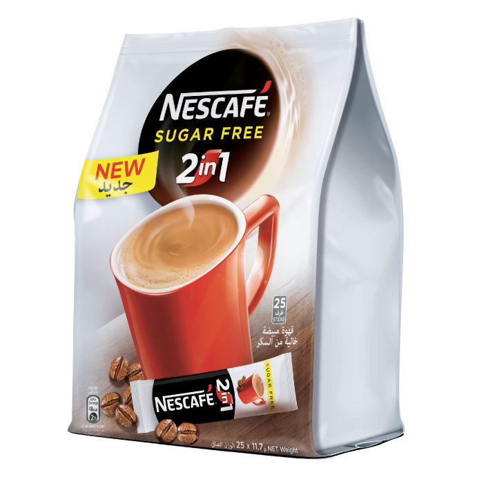 Nescafe 2-in-1 Sugar Free Instant Coffee (pkt/25pcs)