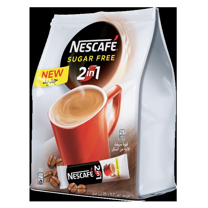 Nescafe 2-in-1 Sugar Free Instant Coffee (pkt/25pcs)