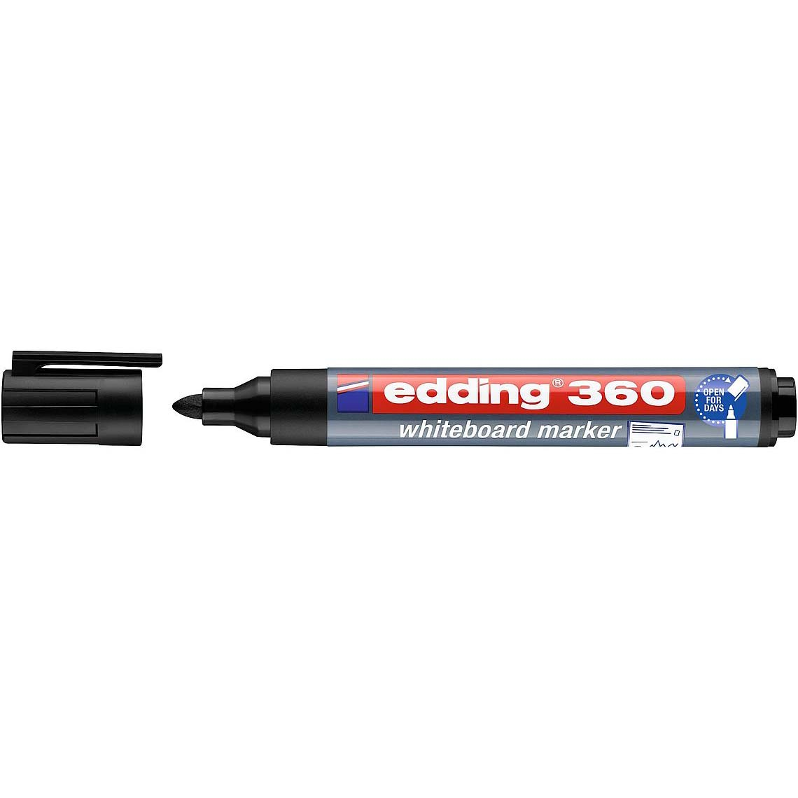 Edding 360 Whiteboard Marker Bullet Tip - Black (pc)