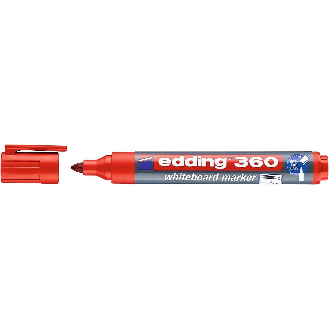 Edding 360 Whiteboard Marker Bullet Tip - Red (pc)