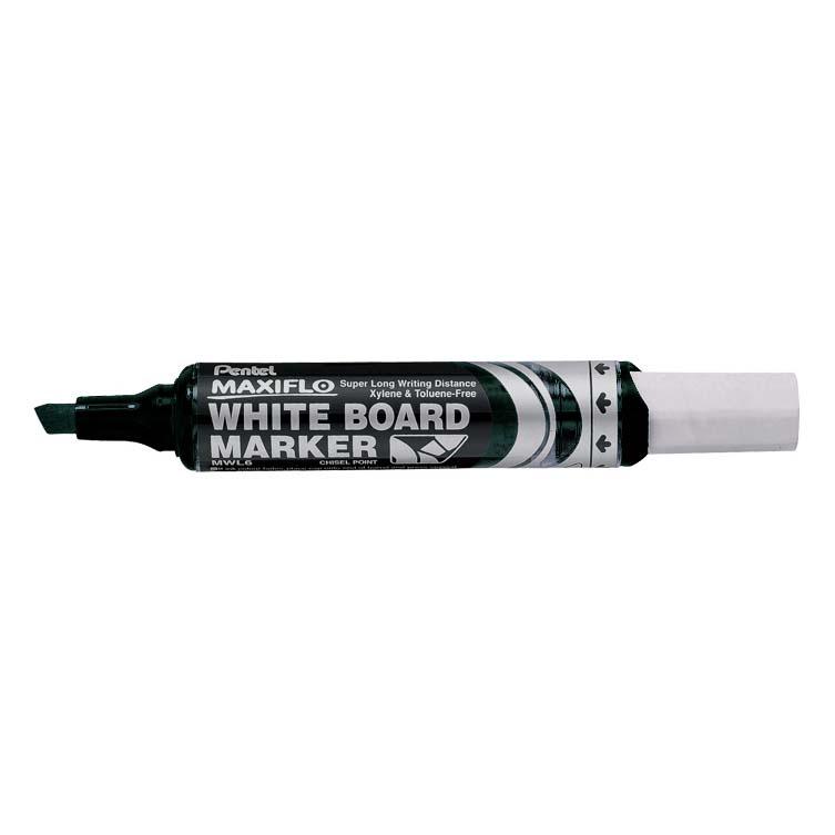 Pentel Maxiflo MWL6 Chisel Tip Whiteboard Marker - Black (pc)