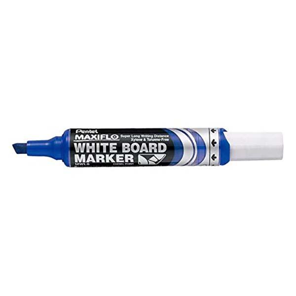 Pentel Maxiflo MWL6 Chisel Tip Whiteboard Marker - Blue (pc)