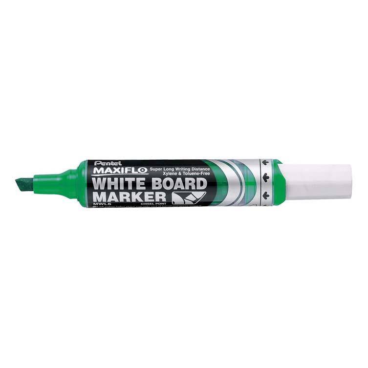 Pentel Maxiflo MWL6 Chisel Tip Whiteboard Marker - Green (pc)