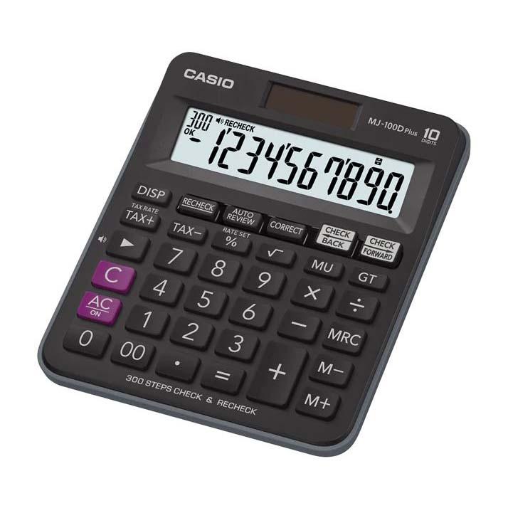 Casio MJ 100D Plus Calculator - Black