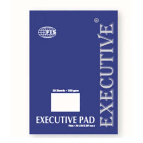 FIS Executive Writing Pad Plain A4 FSPDEXA4PL - White (pc)