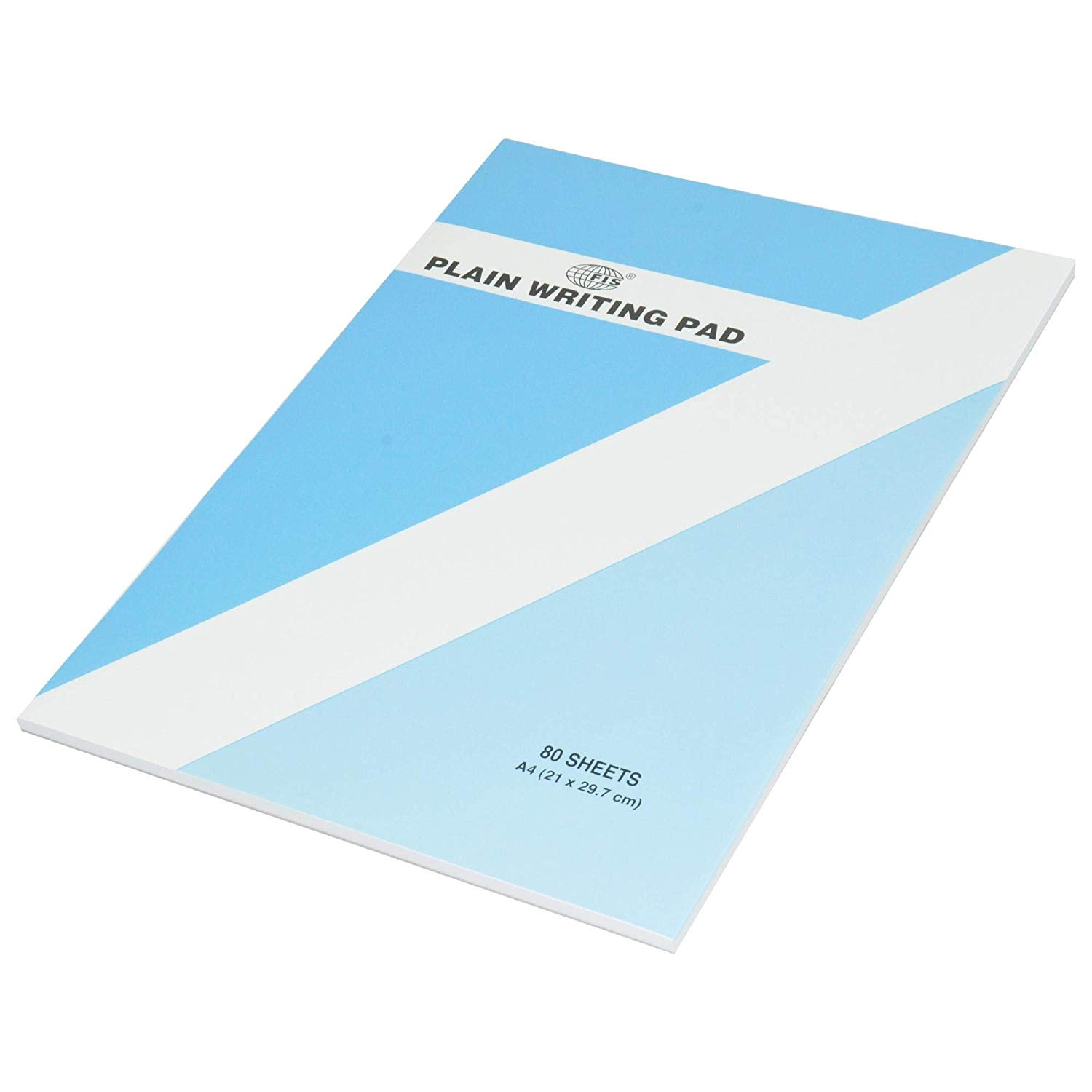 FIS Writing Pad Plain 80-sheets A4 FSPDJA20 - White (pc)