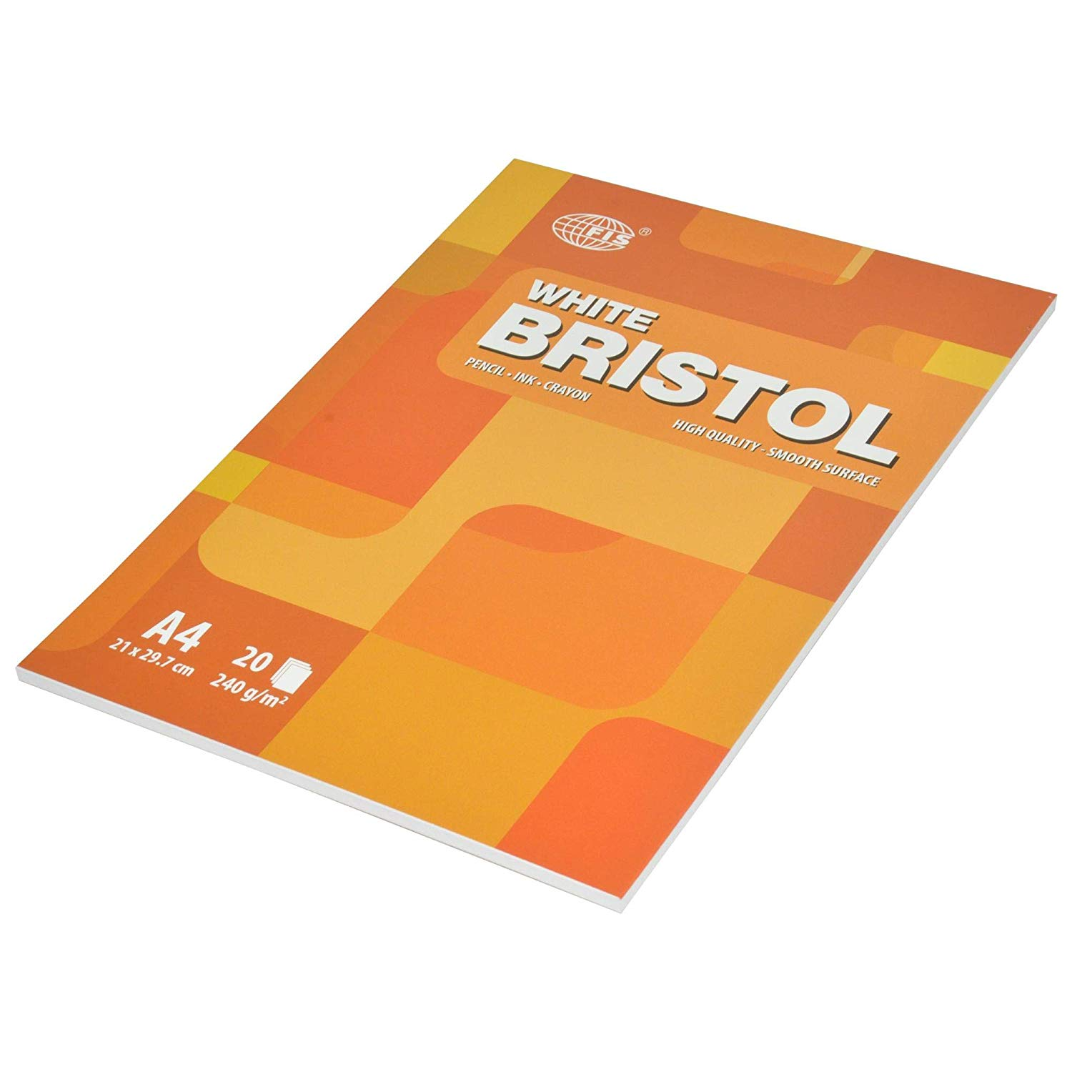 FIS Bristol Pads 240gsm 20-sheets A4 FSPDA4240-20 - White (pc)