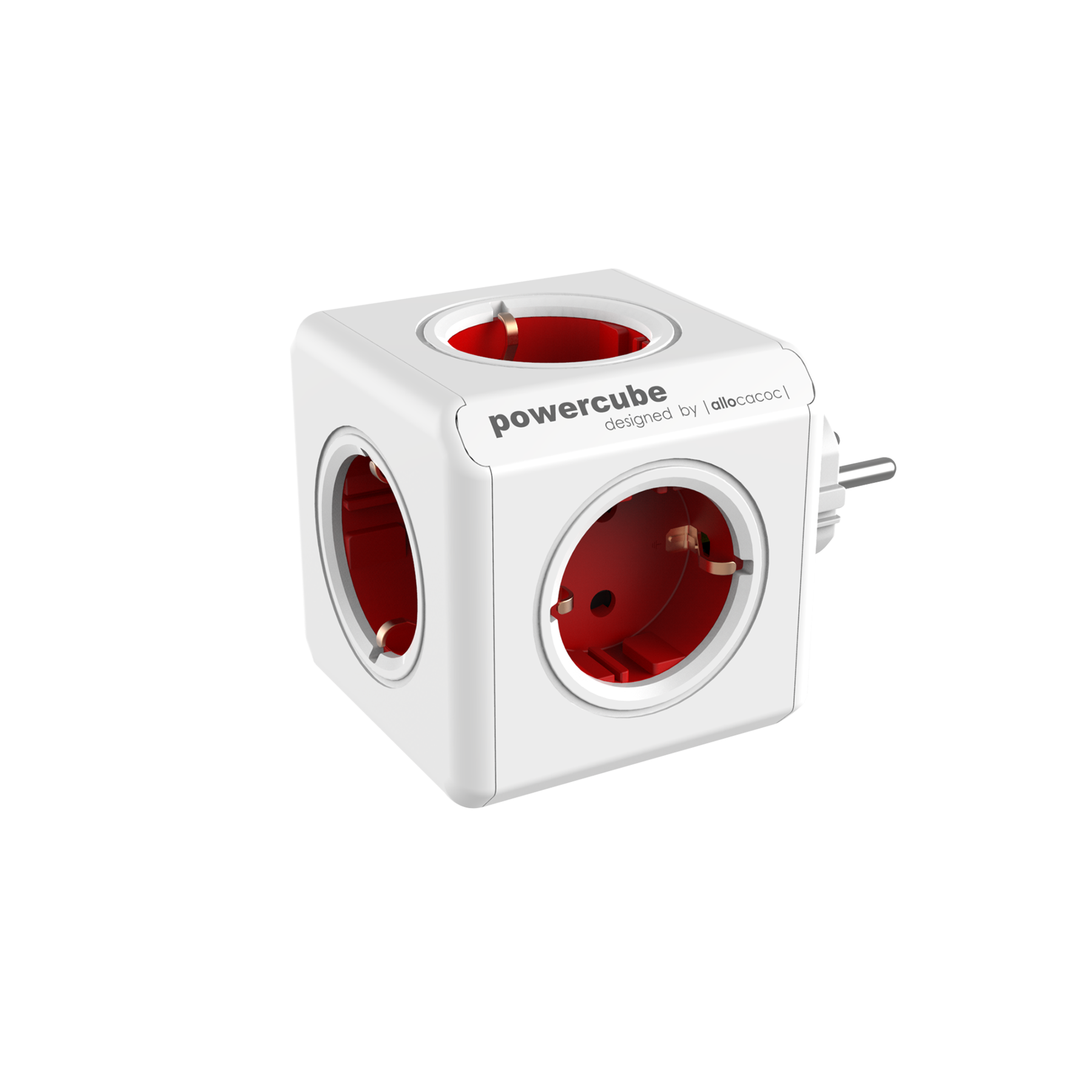 Allocacoc 7100RD PowerCube Original UK - Red (pc)