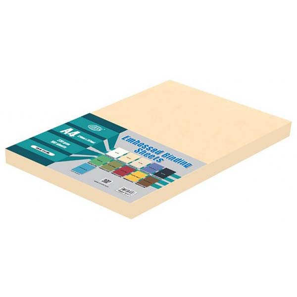 FIS Embossed Binding Sheets A4 230gsm FSBDE230A4CR - Cream (pkt/100pcs)