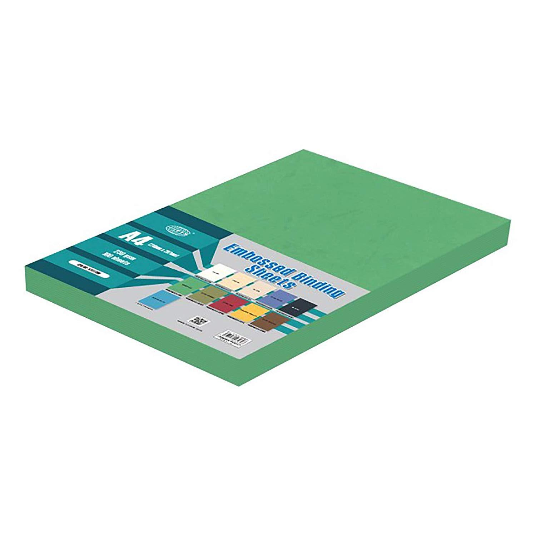 FIS Embossed Binding Sheet A4 230g FSBDE230A4EM - Emerald (pkt/100pcs)