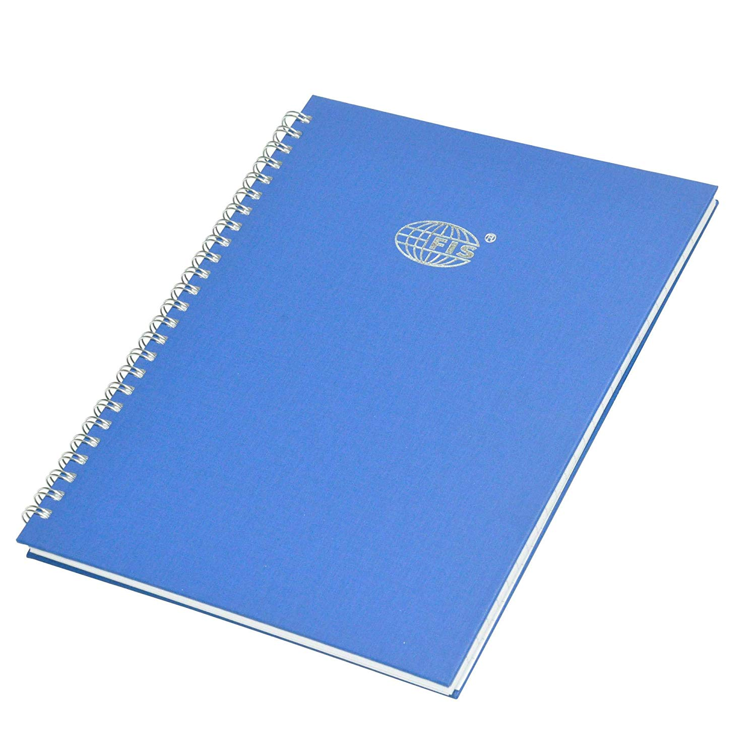 FIS Manuscript Book 8mm Single Ruled with Spiral 96 sheets 2Q 10 x 8in FSMN10X82QSB - Blue (pc)
