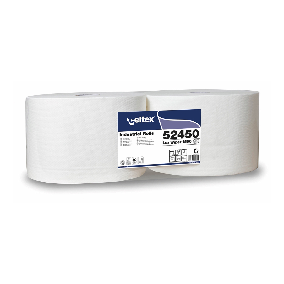 Celtex CX52450 Lux Wiper 1500 Industrial Roll 2ply - 510m (pkt/2pcs)