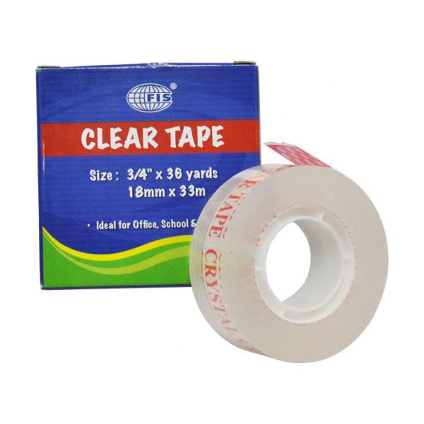 FIS FSTA3/4X36CC Clear Tape - 3/4in x 36yds (pkt/8pcs)