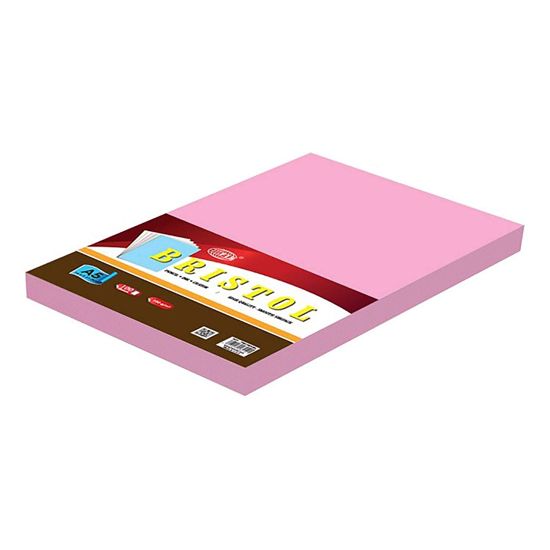 FIS Bristol Board 180gsm A5 FSBI180A5PI - Pink (pkt/100pcs)