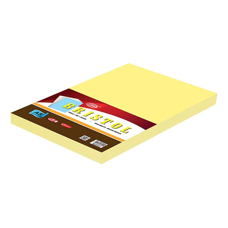 FIS Bristol Board 180gsm A5 FSBI180A5YL - Yellow (pkt/100pcs)