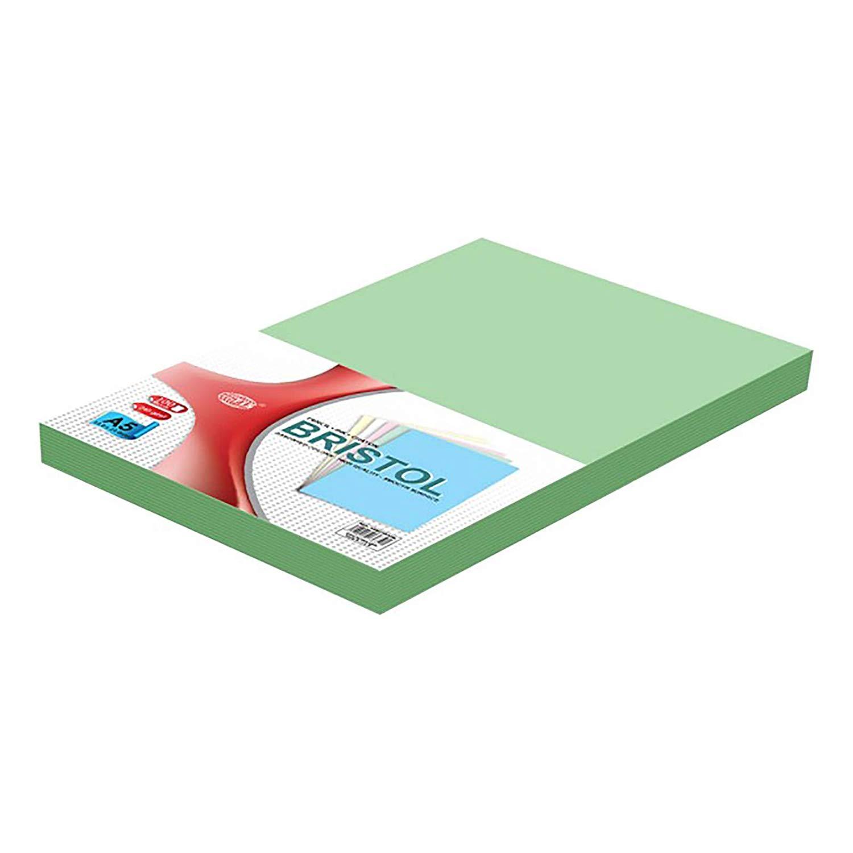 FIS Bristol Board 240gsm A5 FSBI240A5GR - Green (pkt/100pcs)