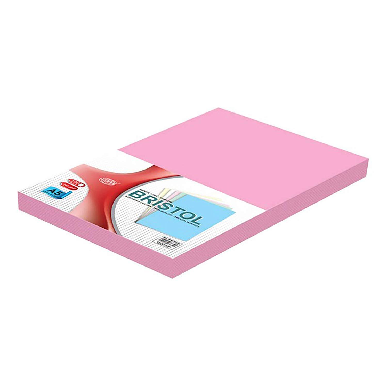 FIS Bristol Board 240gsm A5 FSBI240A5PI - Pink (pkt/100pcs)