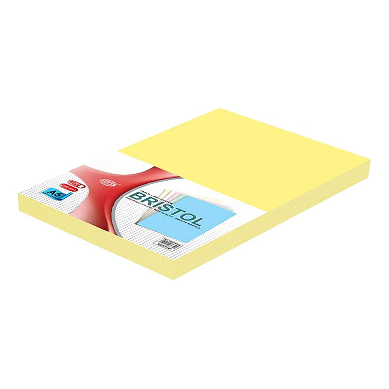 FIS Bristol Board 240gsm A5 FSBI240A5YL - Yellow (pkt/100pcs)