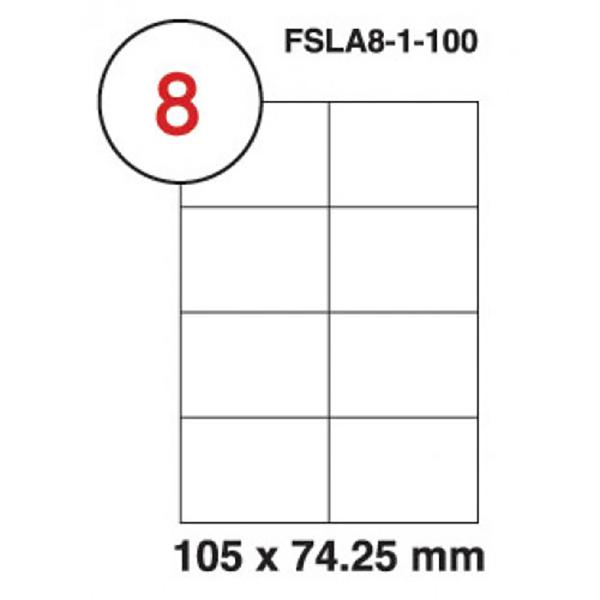 FIS Multipurpose White Label 105 x 74.25mm - FSLA8-1-100 (pkt/100s)