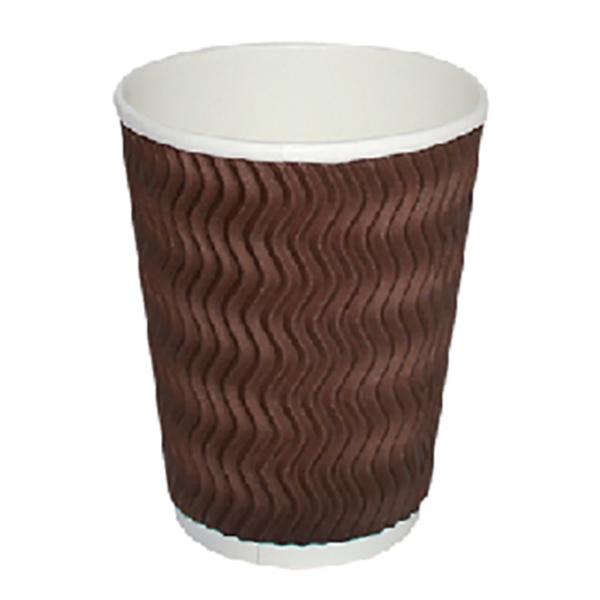 Hotpack PCZZR4 Zig-Zag Ripple Paper Cup - 4oz (pkt/25pcs)