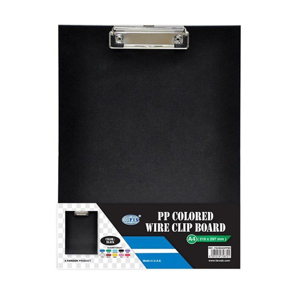FIS FSCBA5PVCBK PVC Clipboard with Wire Clip Single A5 - Black (pc)