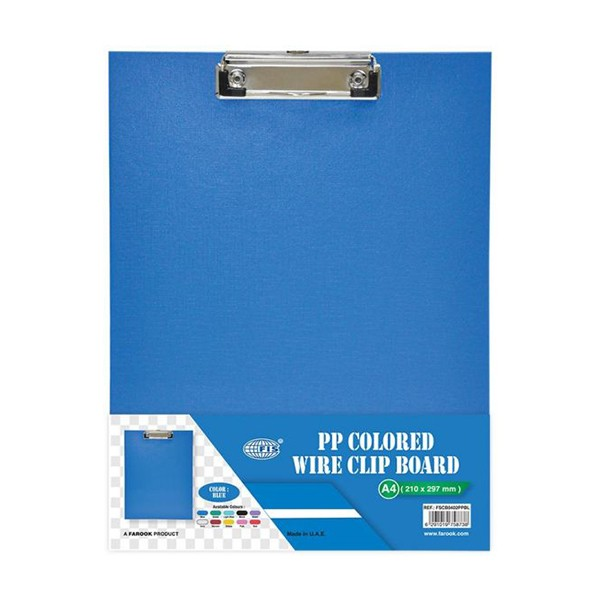FIS FSCBA5PVCBL PVC Clipboard with Wire Clip Single A5 - Blue (pc)