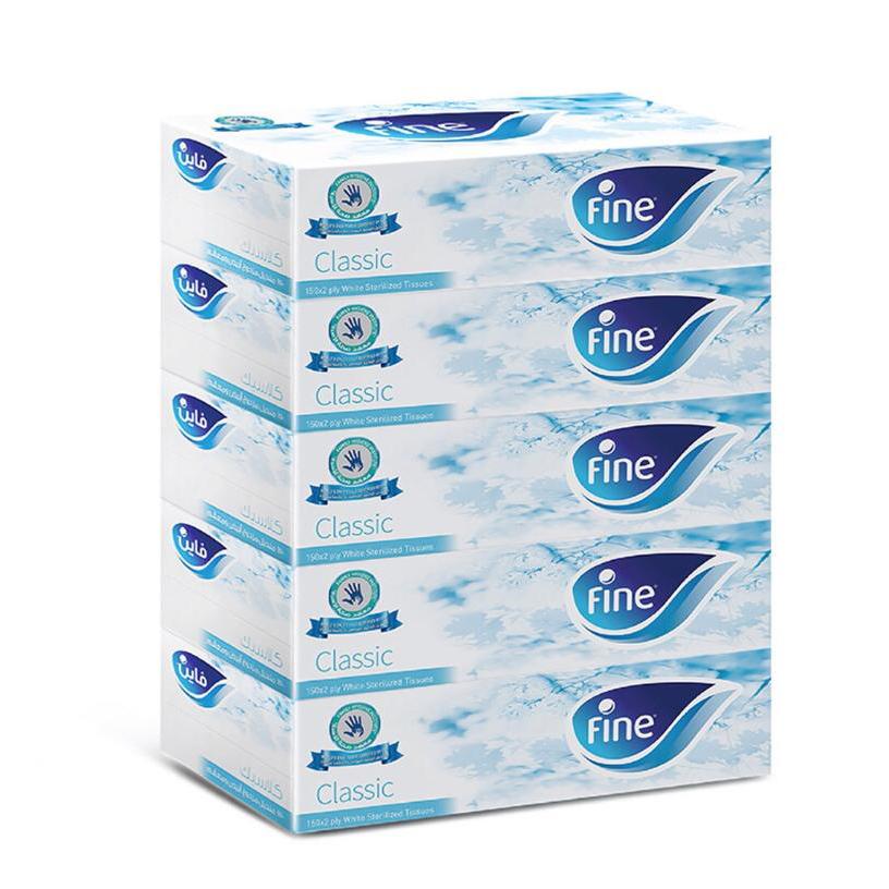 Fine Classic Facial Tissue 150 x 2 ply (pkt/5pcs)