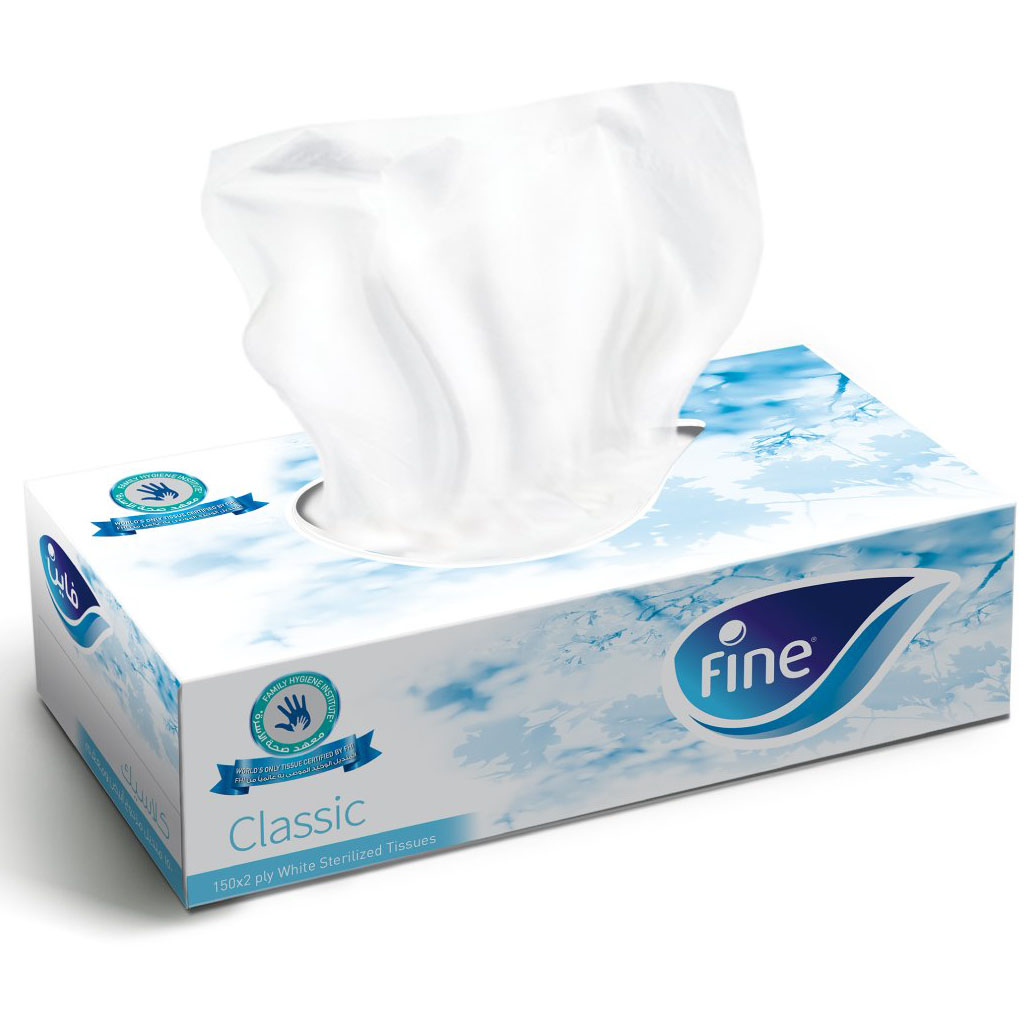 Fine Classic Facial Tissue 150 x 2ply (pc)