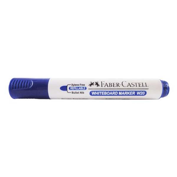 Faber Castell W20 Whiteboard Marker Bullet Tip - Blue (pkt/12pcs)