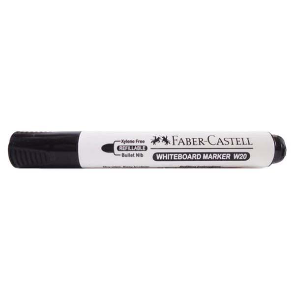 Faber Castell W20 Whiteboard Marker Bullet Tip - Black (pkt/12pcs)