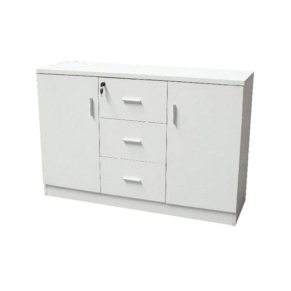 Mahmayi MOF ME 1147 Credenza Storage Cabinet - White Melamine