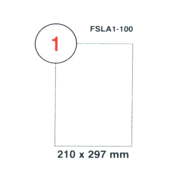 FIS Multipurpose White Label 210 x 297mm A4 - FSLA1-100 (pkt/100s)
