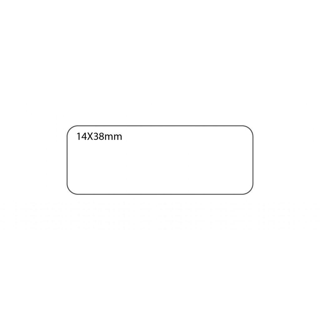 FIS Office White Labels 14 x 38mm - FSLA1438 (pkt/20s)