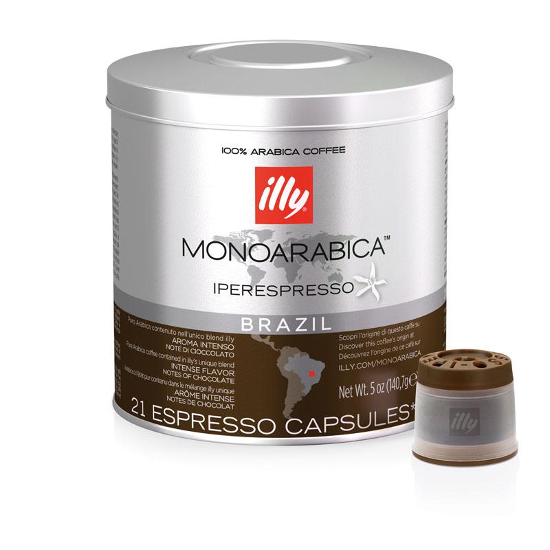 Illy Brazil Monoarabica Iperespresso Espresso Capsule - 140.7g (pkt/21pcs)