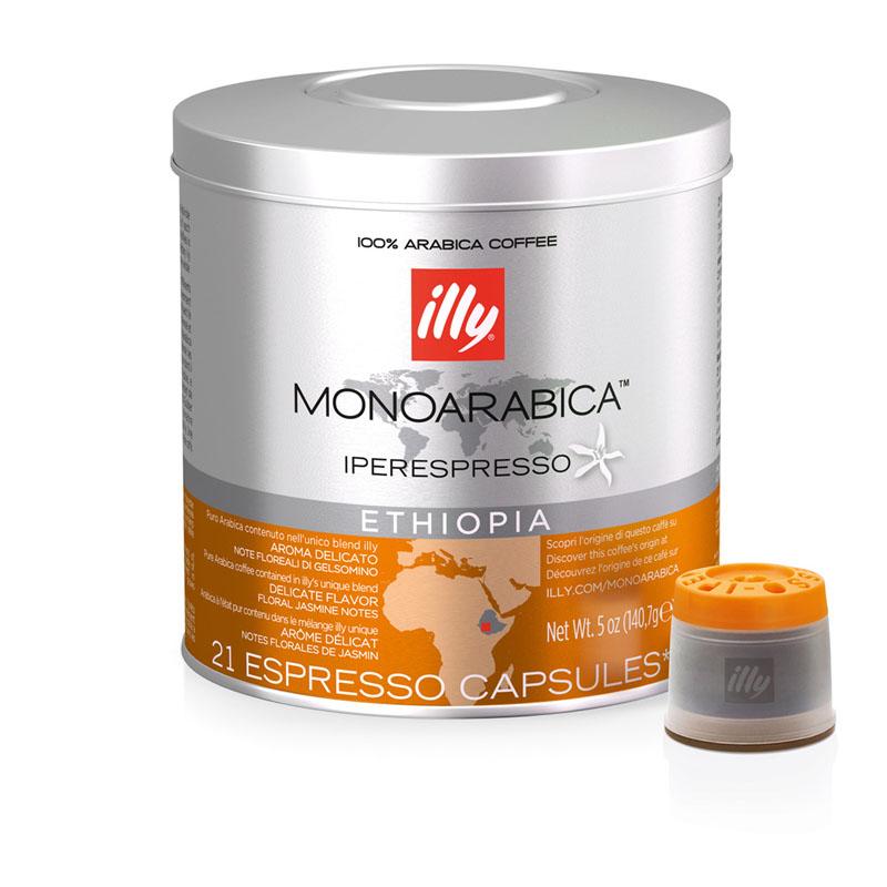 Illy Ethiopia Monoarabica Iperespresso Espresso Capsule - 140.7g (pkt/21pcs)