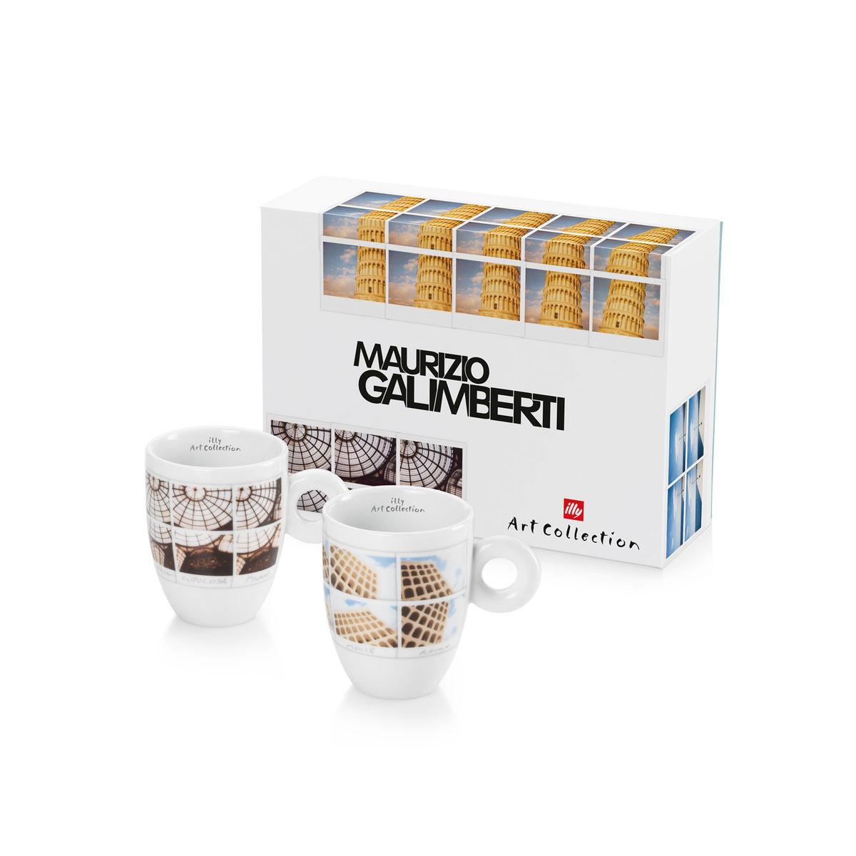 Illy Maurizio Galimberti Mug Cups (box/2pcs)