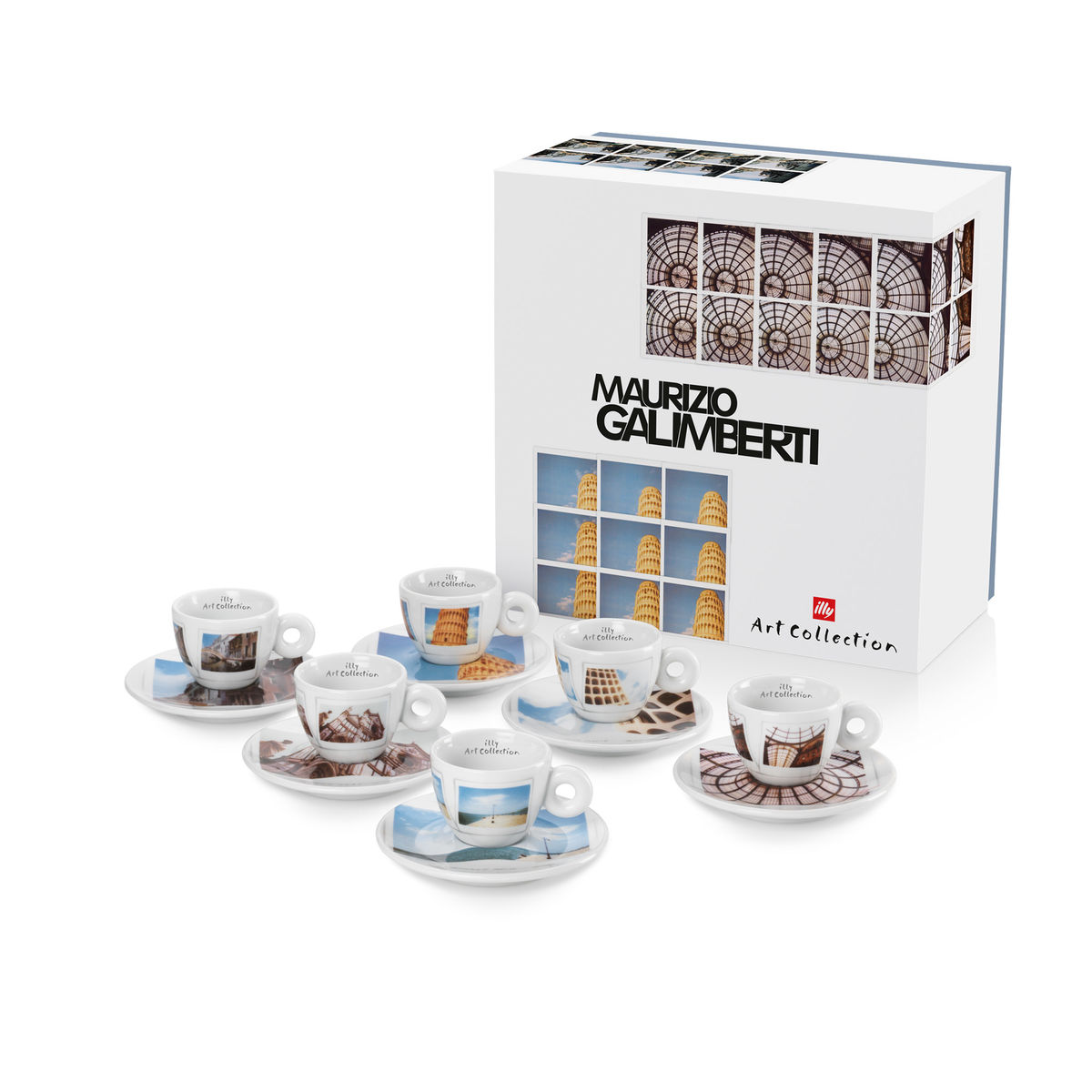 Illy Maurizio Galimberti Espresso Cups & Saucer (box/6pcs)