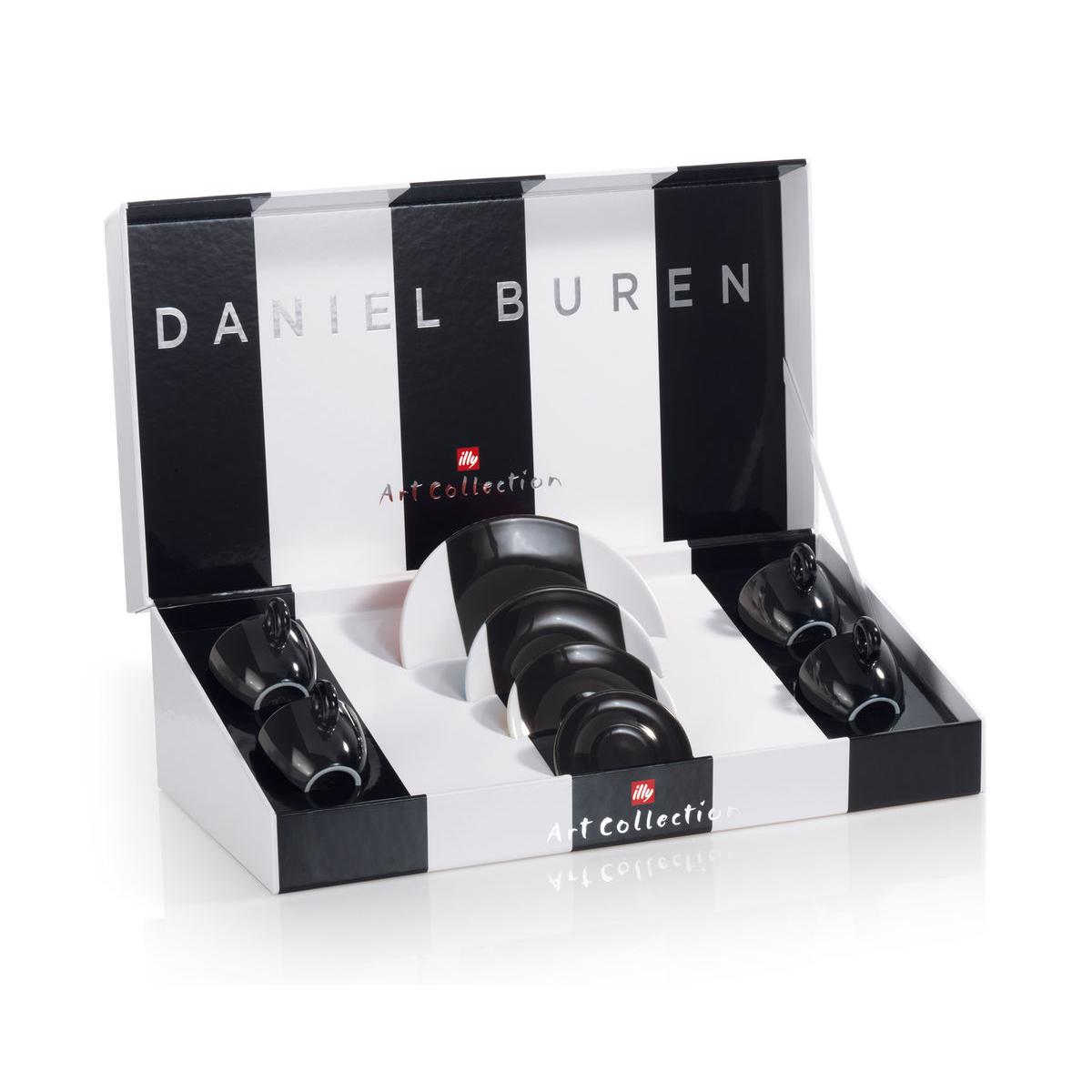 Illy Daniel Buren Espresso Cups (box/4pcs)