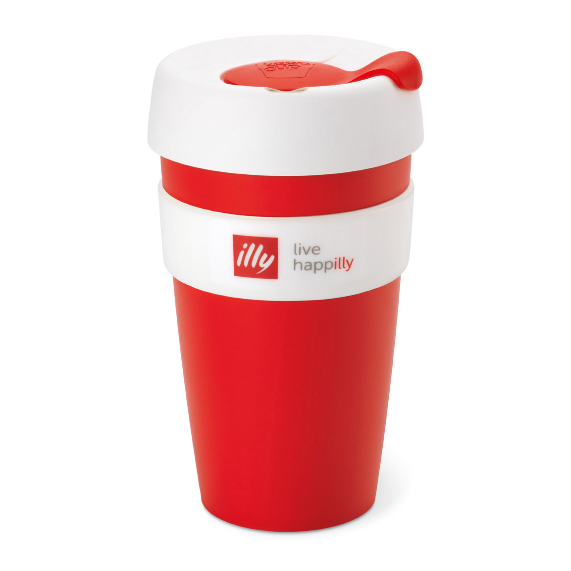 Illy Live HAPPilly KeepCup 16oz -  Red & White (pc)