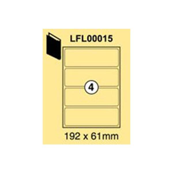 Xel-lent LFL00015 Broad Box File 4-Label Sticker 192 x 61mm - White (pkt/100s)