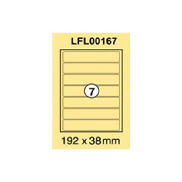 Xel-lent LFL00167 Narrow Box Files 7-Label Sticker 192 x 38mm - White (pkt/100s)